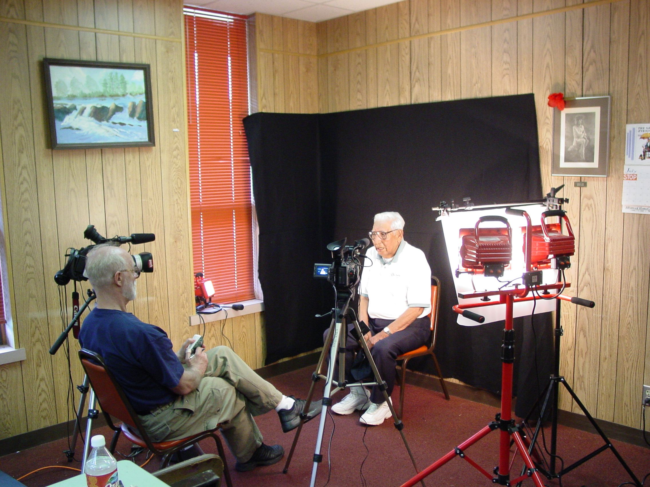 On location in Clinton, Oklahoma interviews for award-winning Sand Creek Massacre film now in the Smithsonian