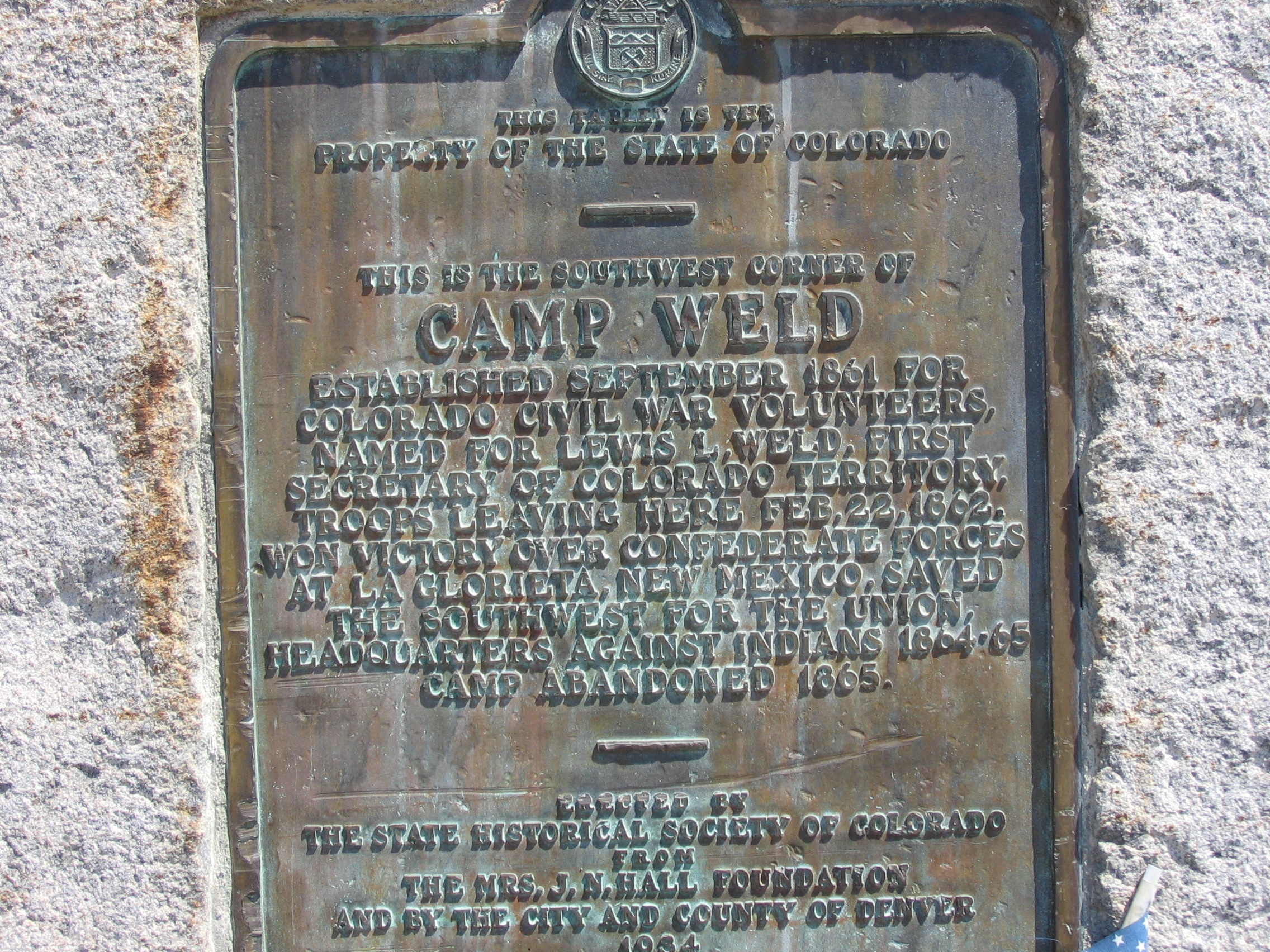 Camp Weld Sign in Denver